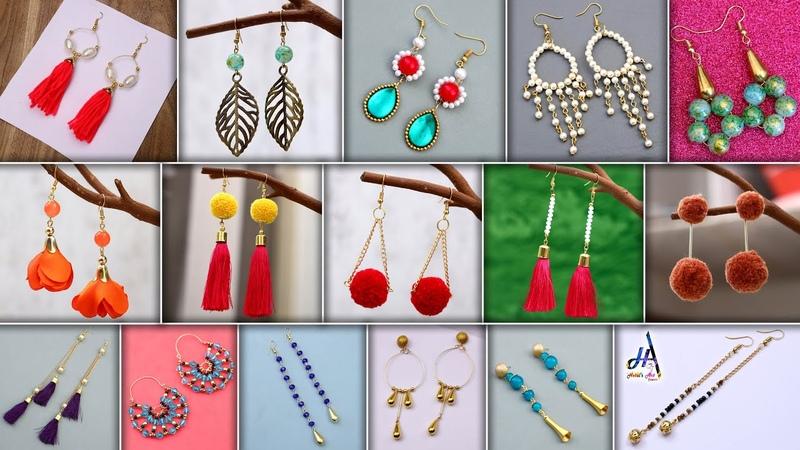 Fancy Girls Daily Wear Looking Beautiful 16 DIY Earring Making At Home