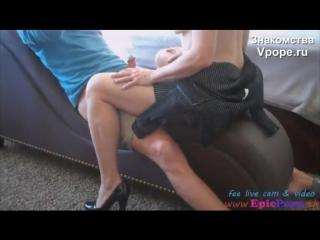 Mother dominates son (порно со зрелыми женщинами, mature, milf, мамки, xxx, sex, porn) 18+