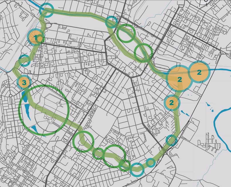 Общая схема «Зелёного кольца»