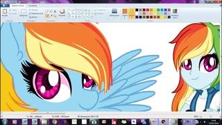 Speedpaint M L P Rainbow Dash