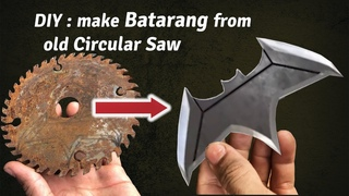 DIY: make Batarang from Zack Snyder Justice League from an old rusty circular saw blade, at low cost