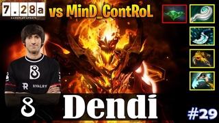 Dendi - Shadow Fiend MID | vs MinD_ContRoL (Dark Seer) |  Update | Dota 2 Pro MMR Gameplay #29