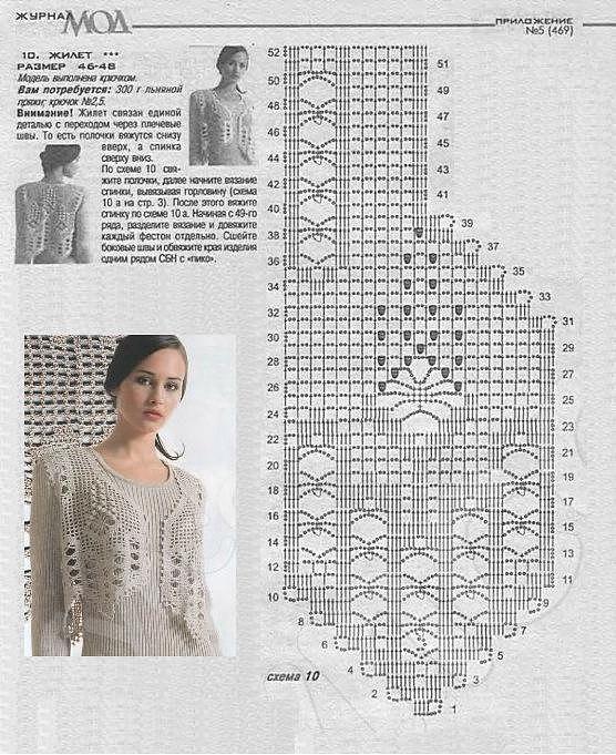 Вязание крючком филейное для женщин модные модели 2018 года с описанием 55