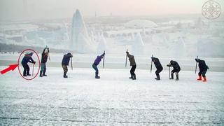 Как добывают лед для Харбинского ледяного фестиваля. Китай. Мир наизнанку 11 сезон 4 серия