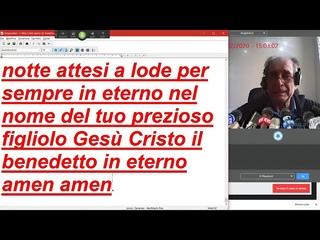 Web CAM salmo 55  SCRITTURA AUTOMATICA fratello Angelo Picone preghiera per te