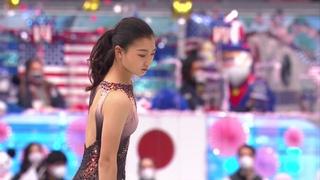 Каори Сакамото. Короткая программа. Женщины. Командный чемпионат мира по фигурному катанию 2021