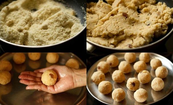 Ладу из манной крупы Эти сладкие, благоухающие кардамоном шарики готовят в Индии на всевозможные праздники и фестивали. «Маленький шарик» так и переводится ладу с санскрита. В зависимости от