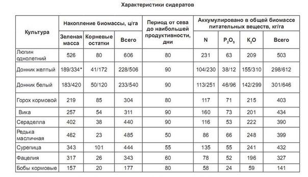 Все секреты использования сидератов в таблицах.