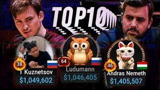 TOP10 Biggest Pots | High Stakes Poker Cash Game Trueteller | Ludumann | Probirs | borntotilt
