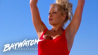 C.J Parker Has A Busy Day Lifeguarding On Baywatch! Baywatch Remastered