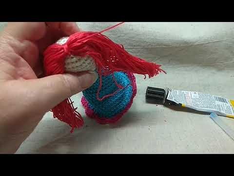 Азбука вязания. Урок 9. Завершение образа вязаной куклы.