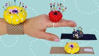 Easy DIY Pincushion / How to Make a Wrist Pincushion Tutorial
