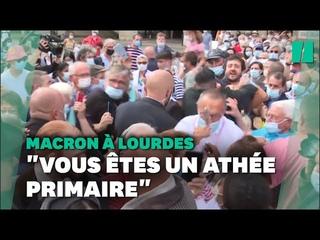 Incident lors du bain de foule d'Emmanuel Macron à Lourdes