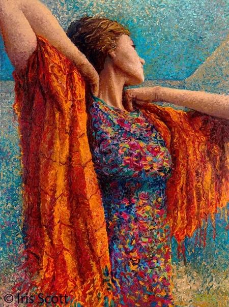 Картины, которым позавидует сам Ван Гог Художница Айрис Скотт (Iris Scott) рисует совершенно восхитительные картины, но делает это не с помощью кисти, как товарищи по цеху, а пальцами. Пейзажи,