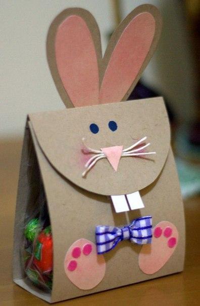 Подарочные пакетики-зайчики