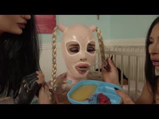 Natalie Mars & Goddess Tangent, Mistress Damazonia - Training the Baby Gimp