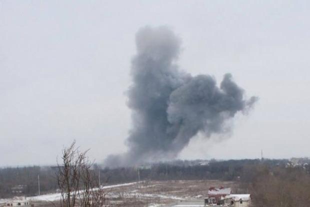В Донецке на севере раздался мощный взрыв
