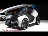 Toyota i TRIL concept 3 seat electric leans to the future on 2017 The Geneva Motor Show