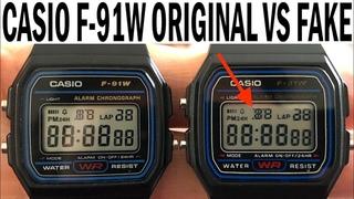 Класcические Casio f-91w сравним с его копией за 3$
