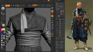 Shinobi | Game Character | Part 2 | Cloth | MarvelousDesigner ZBrush