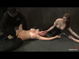 Orgasmageddon 3/4 - Princess Donna Dolore, Isis Love, Rain DeGrey and Felony - Hogtied - Kink - Squirt