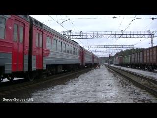 Электропоезд ЭР2Т-7125 станция Толстопальцево