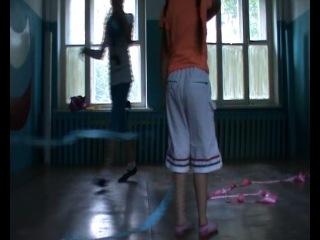 Кристина Денисова и Ксения Бурханова 6 июля 2014 года Бебегон