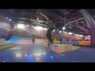 Crooked grind in slow mo