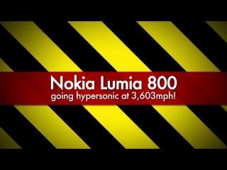 Nokia Lumia 800 survives MACH 5 wind tunnel test