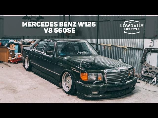 Mercedes Benz W126 V8 560SE ПЕРЕКРЫЛИ МКАД Burnout Air Bagged EP 18 Lowdaily Lifestyle