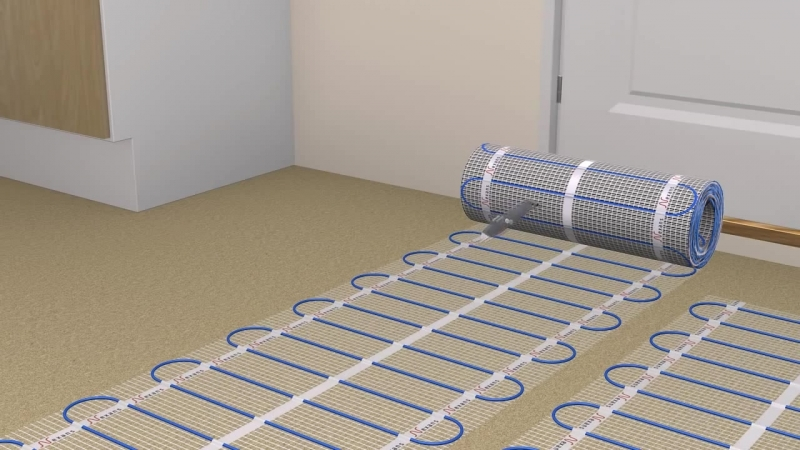 Nexans Heating Cables - Millimat installation