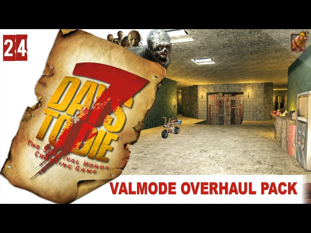 7 Days to Die (15 alpha) Valmod ► [24] Гаражный этаж! Городок на востоке!