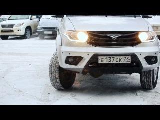 Ульяновский автомобильный завод представил тестовую версию УАЗ ПАТРИОТ с телем...