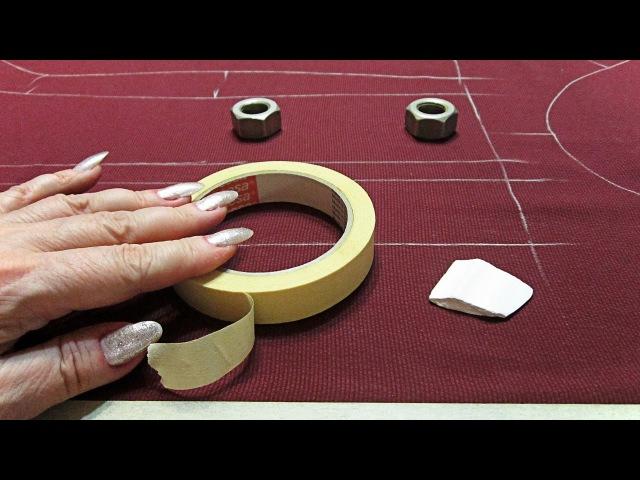 Как кроить шелк, шифон и другие подвижные ткани | Секрет кроя | Лайфхак