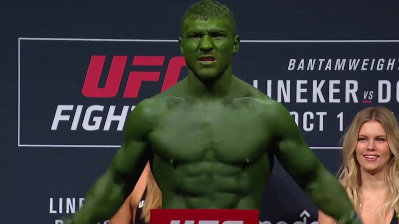 Ion Cutelaba The Hulk взвешивание перед боем