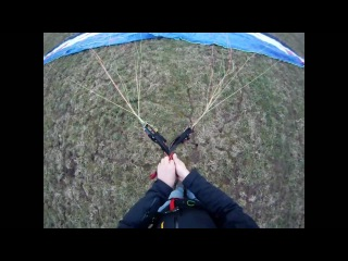 How to connect to your paraglider while looking at it for reverse launch