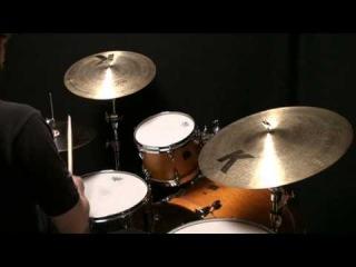 "Used Zildjian 14""A Custom Hi Hat Cymbals 021109M"