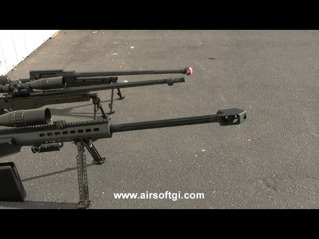 Airsoft GI - SOCOM Gear Barrett M82 Full Metal Sniper Rifle AEG