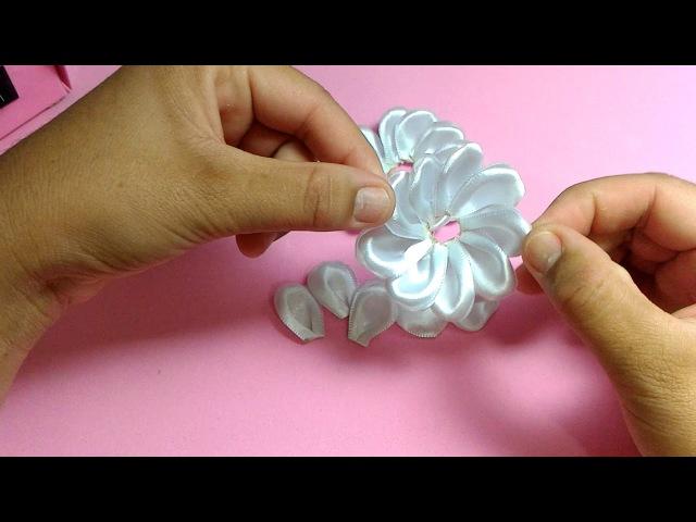 DIY - PAP Flor Facil 2 / Легкий цветок/ Easy Flower/ Lazo Flor Fácil 쉬운 꽃
