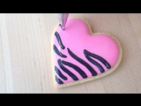 How To Decorate Zebra Print Cookies!