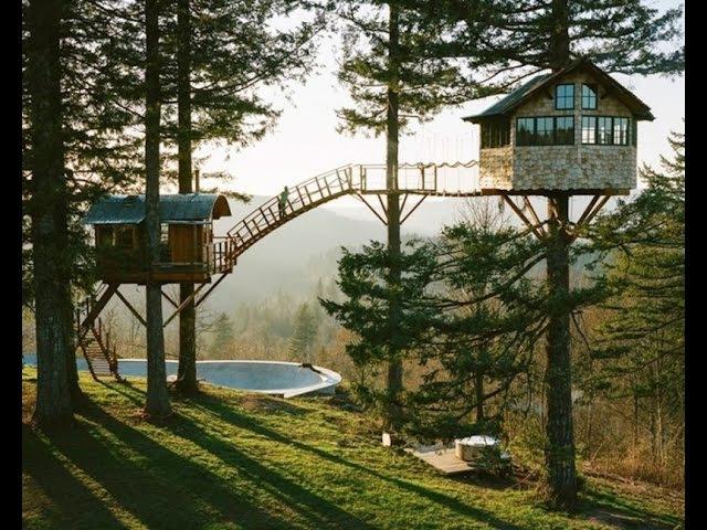 Une maison de rêve avec un Skatepark au milieu de la nature Дом мечты с скейтпарком посреди природы