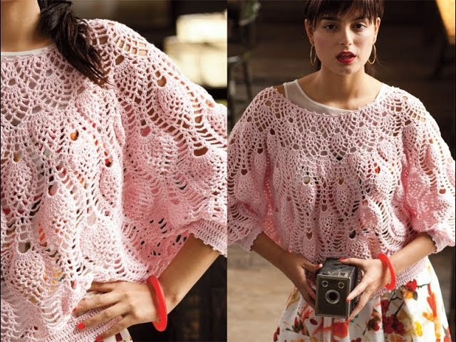 13 Pineapple Stitch Dolman, Vogue Knitting Crochet 2013 Special Collectors Issue