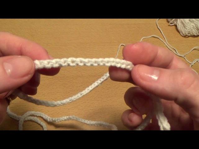 Вязание крючком. Шнурок - Двойная цепочка Crochet for beginners. Lace - Double chain