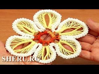 How to Make Flower Romanian Point Lace Урок 63  Румынское кружево