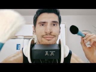 ASMR Camera Brushing and Spanish Whispers binaural male