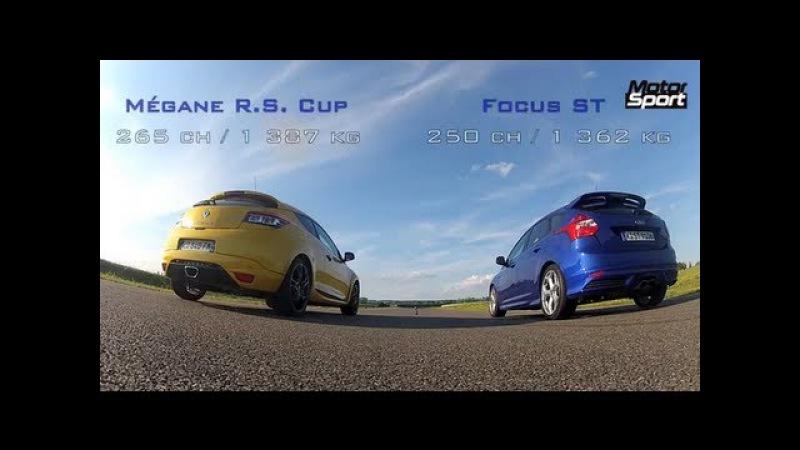 Drag Race New Ford Focus ST VS Mégane RS Cup Motorsport NaZa5aske