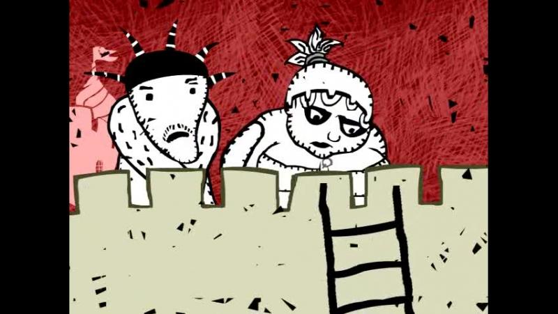 Мультфильм арт хаус Белые чёрные реж Андрей Бахурин Россия