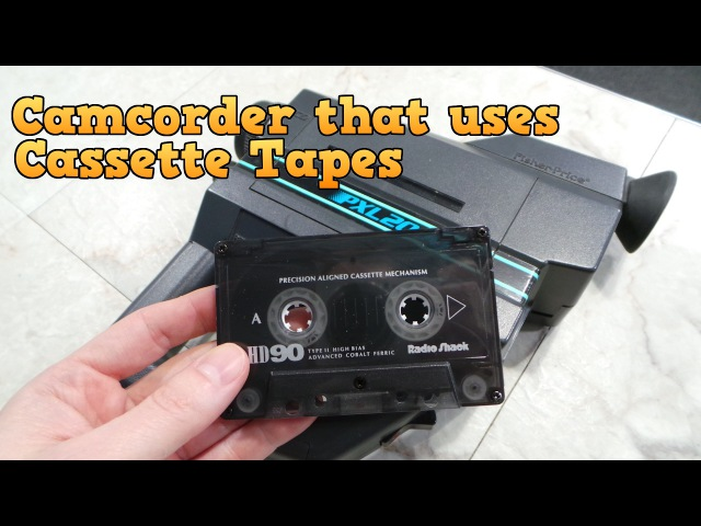 Camcorder that uses Cassette Tapes - The PXL-2000