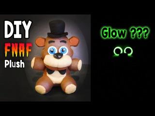 DIY Glow in the Dark Freddy Plush FNAF Tutorial | Collaboration with ArtzieRush