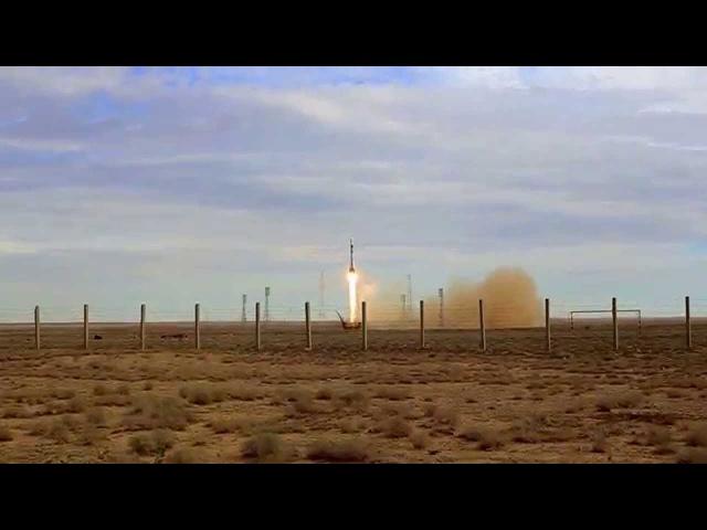 Запуск Союз ТМА-18М (как видно глазами)